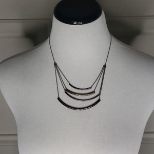 Brass four-tier necklace